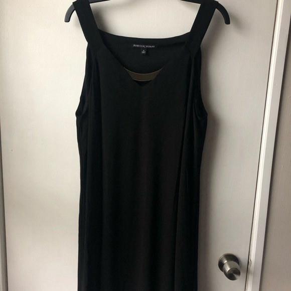 Black Dress with Gold Accent